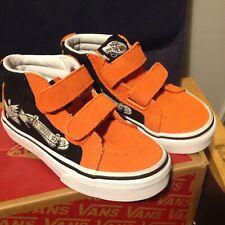 NEW Vans Focus Sk8-Mid Reissue V Shoes flame/black Toddler 10.5