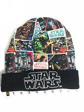 Star Wars Retro Luke Stormtrooper Chewbacca Solo R2D2 Beanie Black Winter Hat