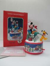 Enesco Disney Santa's Secret Helpers Mini Action Musical Music Box Jingle Bells
