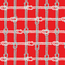 Maritime Modern Knotty Plaid Red by Marin Sutton for Riley Blake, 1/2 yd fabric