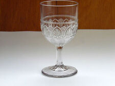 "Antique EAPG Ionia Pattern Clear Glass Water Wine Goblet 5 3/4"" Tall"