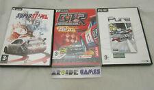 LOT 3 JEUX PC CD ROM VF RACE THE WTCC GAME + GTR + SUPER STARS V8 (vendeur pro)