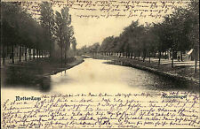 Rotterdam Niederlande 1903 gut franiert und gelaufen Flußpartie Noordsingel