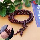 Tibetan Sandalwood 108 Beads Buddhist Buddha Prayer Mala Bracelet Meditation UK