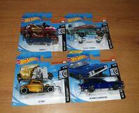 Hot Wheels HW Rod Squad Series Cars Bundle: 32 Ford, Deora III, Dodge, 55 Nomad