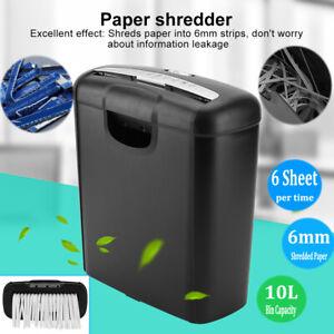 Home Office Electric Shredder for Paper Credit Card Strip Cut Destroy 6-sheet