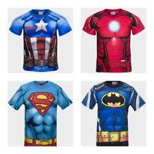 Vêtements Marvel manches courtes pour garçon de 2 à 16 ans en 100% coton