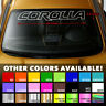 Premium Windshield Banner Vinyl Decal Sticker for Corolla Toyota Outline XRS