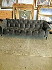 New Chesterfield  Grey Velvet Sofa Hand Made