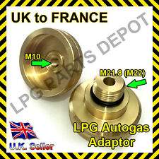 LPG GPL filling point adapter UK to FRANCE Autogas Propane gas travel adaptor