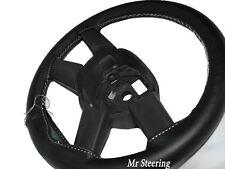 Per Mercedes Sprinter Mk1 neri in pelle Volante Copertura Cuciture Bianche Nuovi