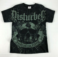Disturbed Indestructible T-Shirt 2-sided - Hanes Heavyweight Black Size Medium M