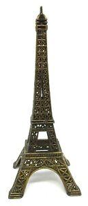 Cool Vintage Eiffel Tower Paris France Souvenir Metal Building Statue Figurine