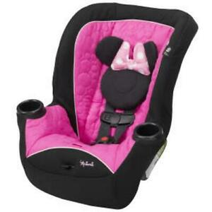 Minnie Mouse Car Seat Convertible Girls Forward Rear Facing Booster Disney Baby