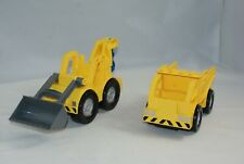 LEGO Front Loader Excavator And Dump Truck Assembled Construction Vehicles Lot 2