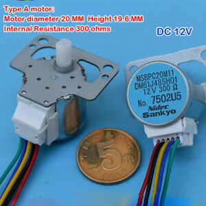 4-Phase 5-Wire Stepper Motor DC 12-15V Mini 20MM Stepper Motor DIY Air Condition