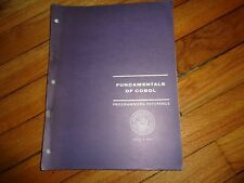 Fundamentals of Cobol Programmer's Reference 1969 Computers Navy NAVSO P-3063