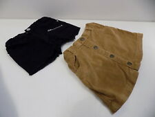 River island / TU broen faux suede skirt & black denim shorts size 3-4 years la