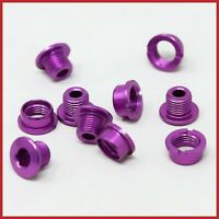 NOS ERGAL CHAINRING BOLTS SINGLE SPEED TRACK ALLOY LIGHTWEIGHT PURPLE VINTAGE 90