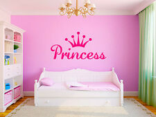 "Princess Crown Girls Nursery Room Vinyl Wall Decal Graphics 22""x11"" Small Bedroo"