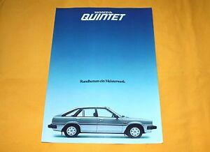 Honda Quintet 1980 Prospekt Brochure Depliant Catalog Prospetto