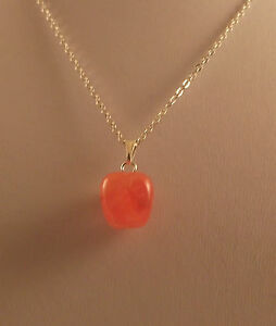 """Various semi precious gemstone apple pendants and 18"""" silver plated chains."""