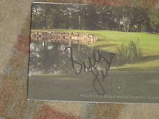 Brittney Lincicome 2011 Canadian Open Signed Hillsdale Golf & CC Scorecard COA