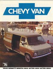 1976 Chevrolet Van Brochure G10/G20/G30/Hi-Cube