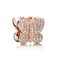Authentic Genuine Pandora Rose Gold Sparkling Butterfly Bead 781257CZ
