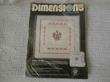 Dimensions Victorian Floral ROSES 'n LACE Cross Stitch Kit Picture or Pillow