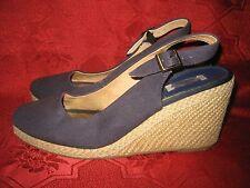 "Dune ""Karley"" Imperia Espadrille Wedge Slingback Shoes / Sandals Navy UK 6 / 39"