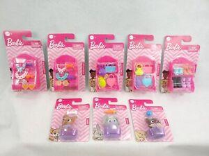 (Lot of 8) Barbie Pets, Rabbit, Puppy, & Kitten. Headband, handbags, and shoes
