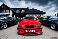 BMW 3 E36 Front Bumper Spoiler Fat Lip Black / Add On