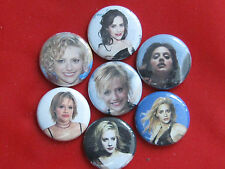 "Brittany Murphy film and stage actress voice-artist 1"" pinback buttons"