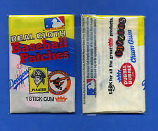 1973 FLEER REAL CLOTH BB PATCHES PACK-- DODGERS / PIRATES / ORIOLES VARIATION