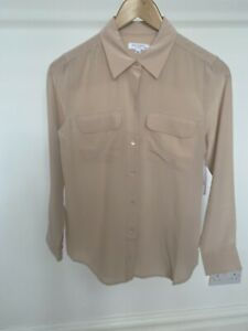 Equipment Signiture Silk Shirt  - French Nude