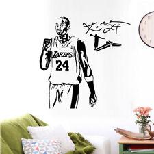 Basketball Player Wall Sticker Kobe Bryant Wallpaper Decal Boys Dorm Room Decor