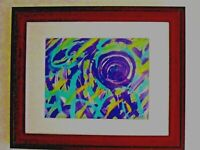 "EXCITING ACRYLIC ART BY DAIS  ENTITLED ""EYE OF THE STORM """