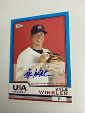 2010 Topps Chrome USA Baseball Autographs Kyle Winkler Team USA #USA21