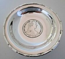 Chinese Export Silver M.Thereas 1780 Coin Dish, Wai Kee, Hong Kong, (b)