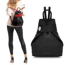 Neues AngebotDamen Handtasche schwarz Damen Rucksack Schultertasche italienische Leder Vera Pelle