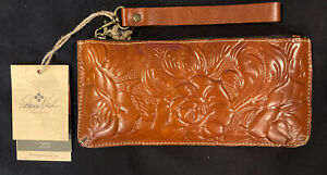 Patricia Nash Wristlet/Clutch – Italian Tooled Leather Collection - New