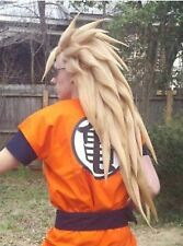 wigs Dragon Ball Z Super Saiyan Blond brun long droit perruque de cheveux