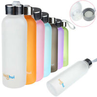 Portable Sport Travel Plastic Fruit Juice Water Bottle Cup Straw Design 600ML mt