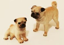 Miniature Animal Figurine Pugs Hand Painted Mini