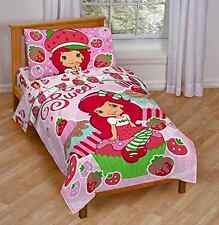 Toddler Bed Set Strawberry Shortcake Sweet Cupcake Vibrant Printed Design New
