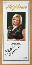 COLETTE MANN *Sheila* NEIGHBOURS HAND SIGNED Cast Fan Card NEW 2018 DESIGN