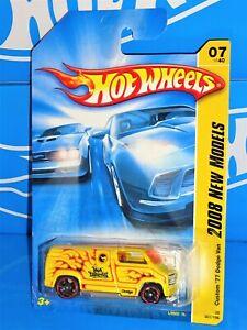Hot Wheels 2008 New Models #7 Custom '77 Dodge Van Yellow w/ OH5SPs