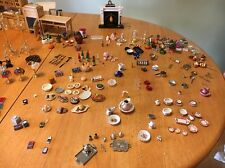 Vtg Dollhouse Miniature Mixed Lot of Accessory Items Pots Pans Cups Stuff LOOK