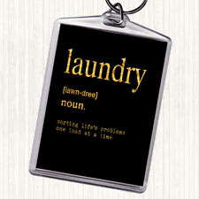 Black Gold Word Definition Laundry Quote Bag Tag Keychain Keyring